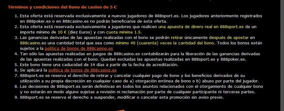 888 casino bono bienvenida foronaranja
