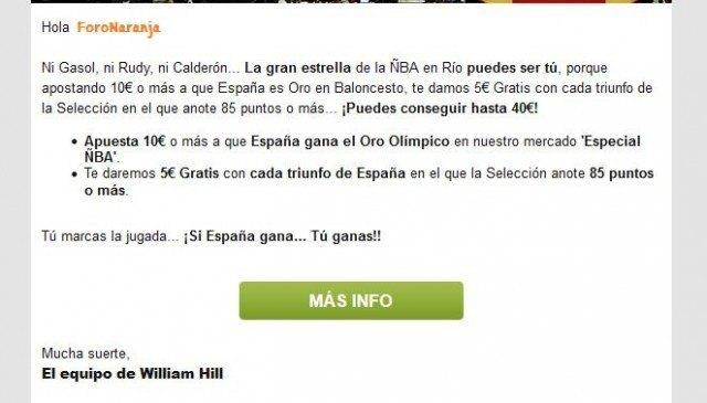 sentimiento patrio patriotismo williamhill cuota seleccion española correo mail 2 foronaranja